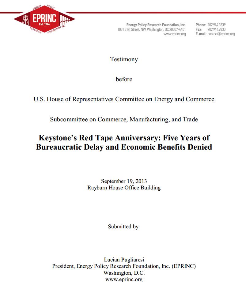 keystone testimony